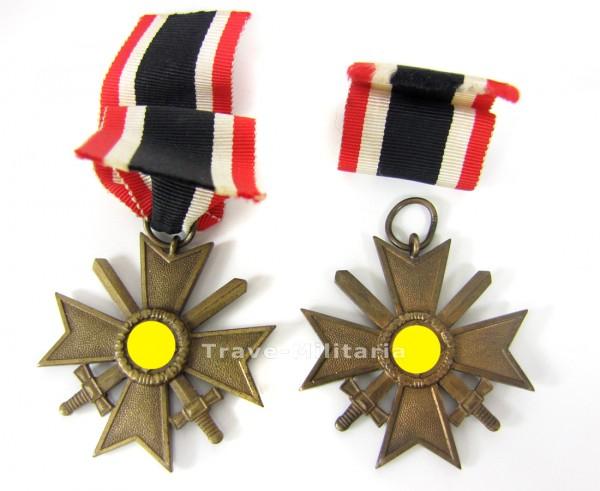 2 x Kriegsverdienstkreuz 2. Klasse mit Schwertern