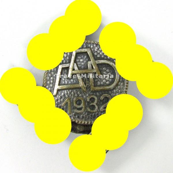 Silbernes Traditionsabzeichen des Anhaltinischen Arbeitsdienst 1932