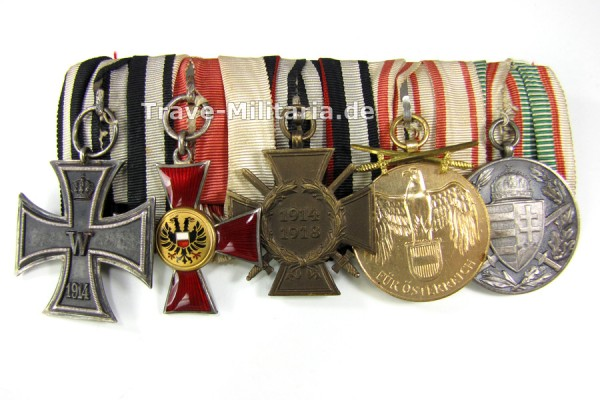 5er Ordenspange mit Lübecker Hanseatenkreuz