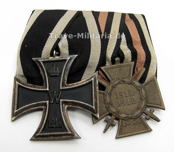 2er Ordenspange EK 2 1914 und FEK