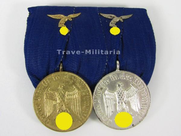 2er Ordenspange Dienstauszeichnung 4 und 12 Jahre Luftwaffe