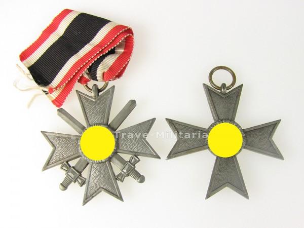 Set Kriegsverdienstkreuze 2. Klasse mit und ohne Schwerter