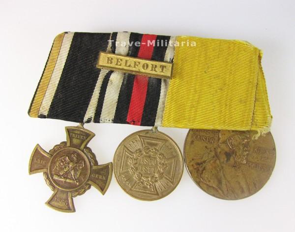 Ordenspange Kämpfer 1866, 1870/71