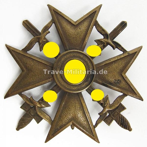 Spanienkreuz in Bronze mit Schwertern