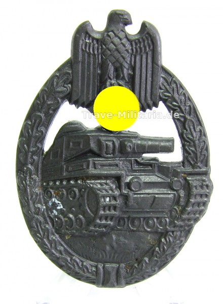 Panzerkampfabzeichen in Bronze sogenanntes Flatback