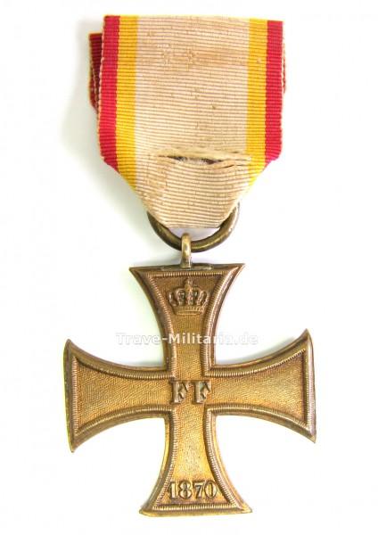 Mecklenburg-Schwerin Militärverdienstkreuz 1870 am Originalband