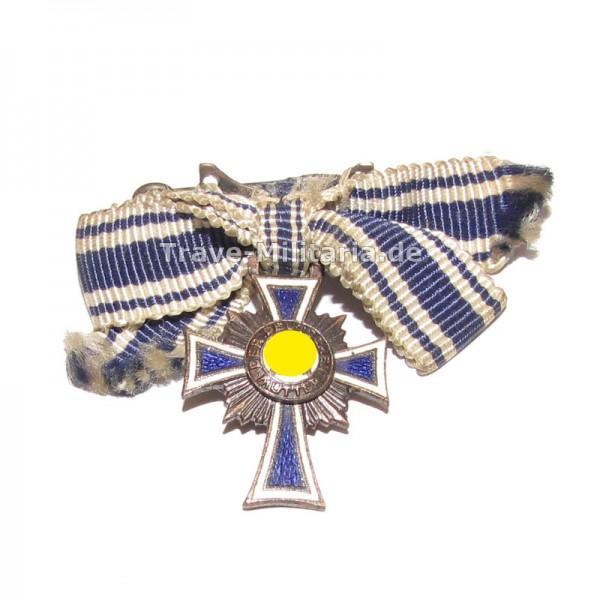 Miniatur Ehrenkreuz der Deutschen Mutter in Bronze an Schleife
