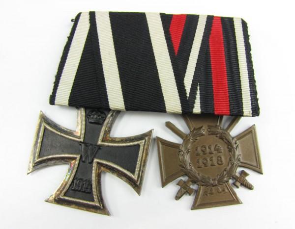 große Ordenspange Eisernes Kreuz 1914 2. Klasse und Ehrenkreuz Frontkämpfer
