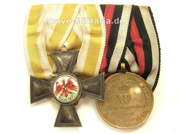 Preußen 2er Ordenspange Roter Adler Orden 4. Klasse & KDM 1870/71