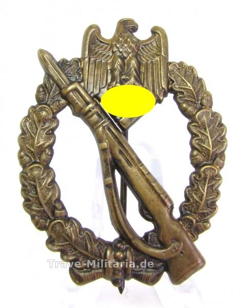 Infanteriesturmabzeichen in Bronze Hohlprägung