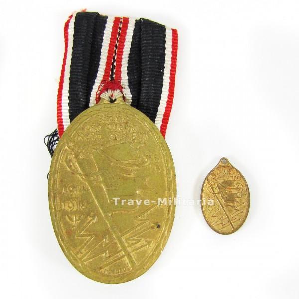 Kyffhäuser-Denkmünze 1914-18 mit Miniatur