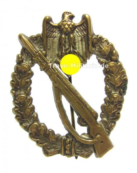 Infanteriesturmabzeichen in Silber Hohlprägung Buntmetall