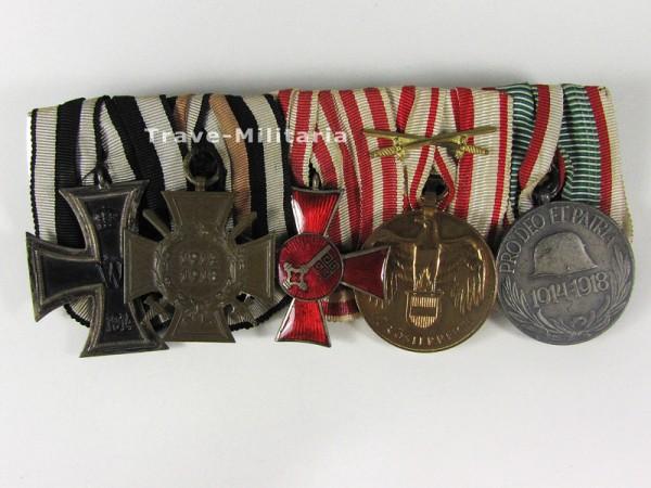 5er Ordenspange Hanseatenkreuz Bremen und Eisernes Kreuz 2. Klasse