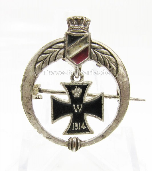 Patriotische Brosche 1. Weltkrieg 1914