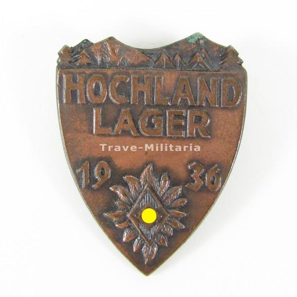 Abzeichen Hochland-Lager 1936 der HJ