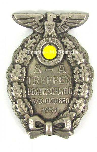Abzeichen SA-Treffen Braunschweig 17./18. Oktober 1931