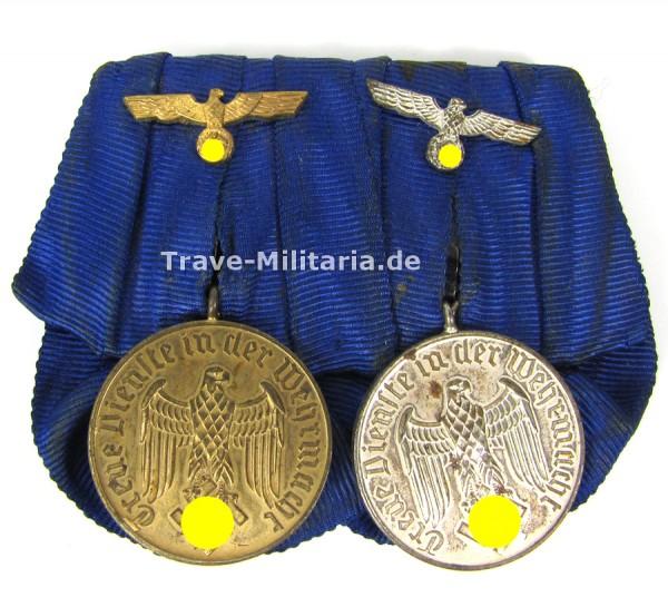 2er Ordenspange Dienstauszeichnung der Wehrmacht 4 und 12 Jahre