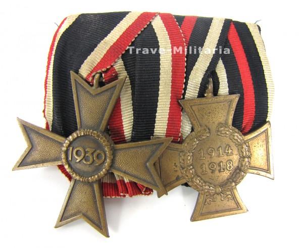 2er Ordenspange KVK 2. Klasse und Ehrenkreuz für Teilnehmer