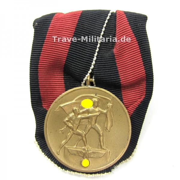 Medaille zur Erinnerung an den 1. Oktober 1938 an Einzelspange