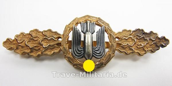 Frontflugspange für Kampfflieger in Gold