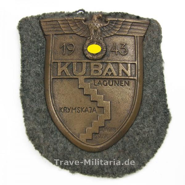 Kubanschild auf Heeresstoff