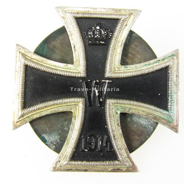 Eisernes Kreuz 1. Klasse 1914 mit Schraubscheibe und Gegenplatte
