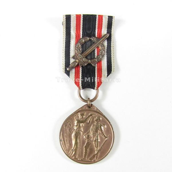 Deutsche Ehrendenkmünze des Weltkrieges mit Kampfabzeichen